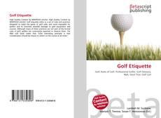 Bookcover of Golf Etiquette
