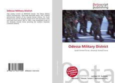 Bookcover of Odessa Military District