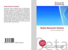 Bookcover of Radio Research Station