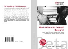 Buchcover von The Institute for Cultural Research