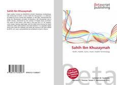 Bookcover of Sahih Ibn Khuzaymah