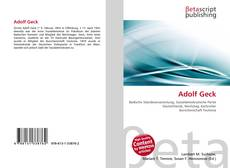 Buchcover von Adolf Geck