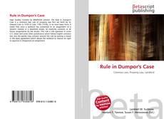 Bookcover of Rule in Dumpor's Case