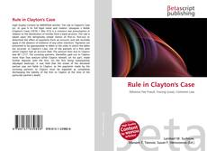 Bookcover of Rule in Clayton's Case