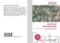 Bookcover of Adolf Graf Schwarzenberg