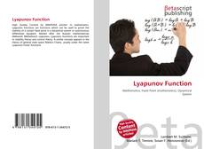 Bookcover of Lyapunov Function