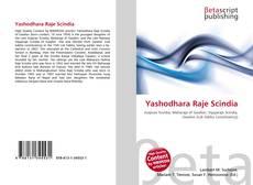 Buchcover von Yashodhara Raje Scindia