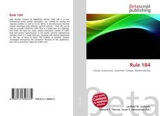 Bookcover of Rule 184