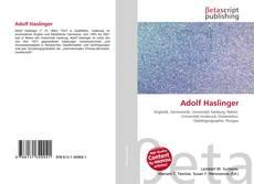 Buchcover von Adolf Haslinger