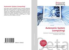 Bookcover of Autonomic System (computing)