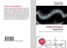 Capa do livro de Safety Testing of Explosives