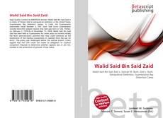 Walid Said Bin Said Zaid kitap kapağı