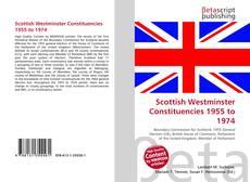 Buchcover von Scottish Westminster Constituencies 1955 to 1974