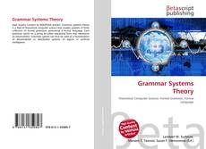 Bookcover of Grammar Systems Theory