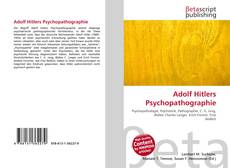Bookcover of Adolf Hitlers Psychopathographie