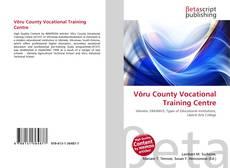 Võru County Vocational Training Centre kitap kapağı