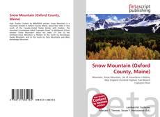 Обложка Snow Mountain (Oxford County, Maine)