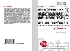 Capa do livro de Q Clearance