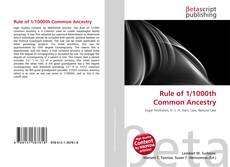 Bookcover of Rule of 1/1000th Common Ancestry