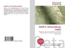 Capa do livro de Adolf II. (Schaumburg-Lippe)