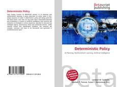 Deterministic Policy kitap kapağı