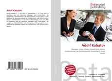 Bookcover of Adolf Kabatek