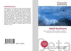 Adolf Kaufmann的封面