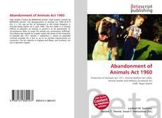 Buchcover von Abandonment of Animals Act 1960