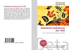 Portada del libro de Radioactive Substances Act 1993