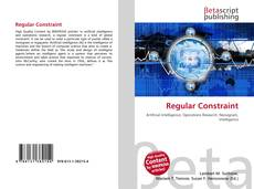 Bookcover of Regular Constraint