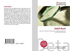 Buchcover von Adolf Bach
