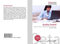 Bookcover of Quality Control