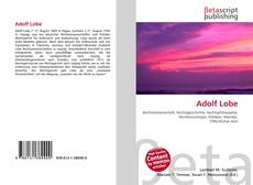 Bookcover of Adolf Lobe