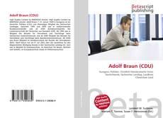 Buchcover von Adolf Braun (CDU)