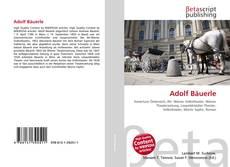 Buchcover von Adolf Bäuerle