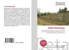 Capa do livro de Adolf Maislinger