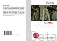 Couverture de Adolf Mahr
