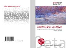 Bookcover of Adolf Magnus von Hoym