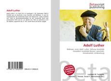 Buchcover von Adolf Luther