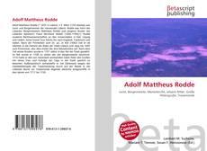 Couverture de Adolf Mattheus Rodde