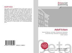 Bookcover of Adolf Erben