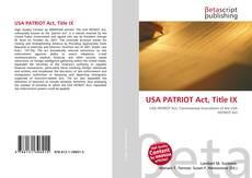USA PATRIOT Act, Title IX的封面