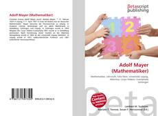 Bookcover of Adolf Mayer (Mathematiker)
