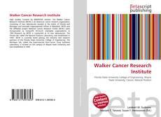 Buchcover von Walker Cancer Research Institute