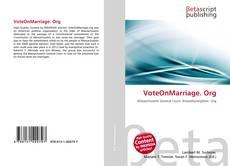 VoteOnMarriage. Org的封面