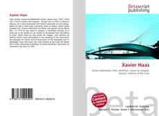 Bookcover of Xavier Haas