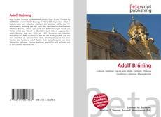 Capa do livro de Adolf Brüning