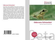 Couverture de Odorrana Schmackeri