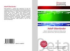 Buchcover von Adolf Oberländer