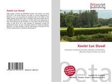 Обложка Xavier Luc Duval